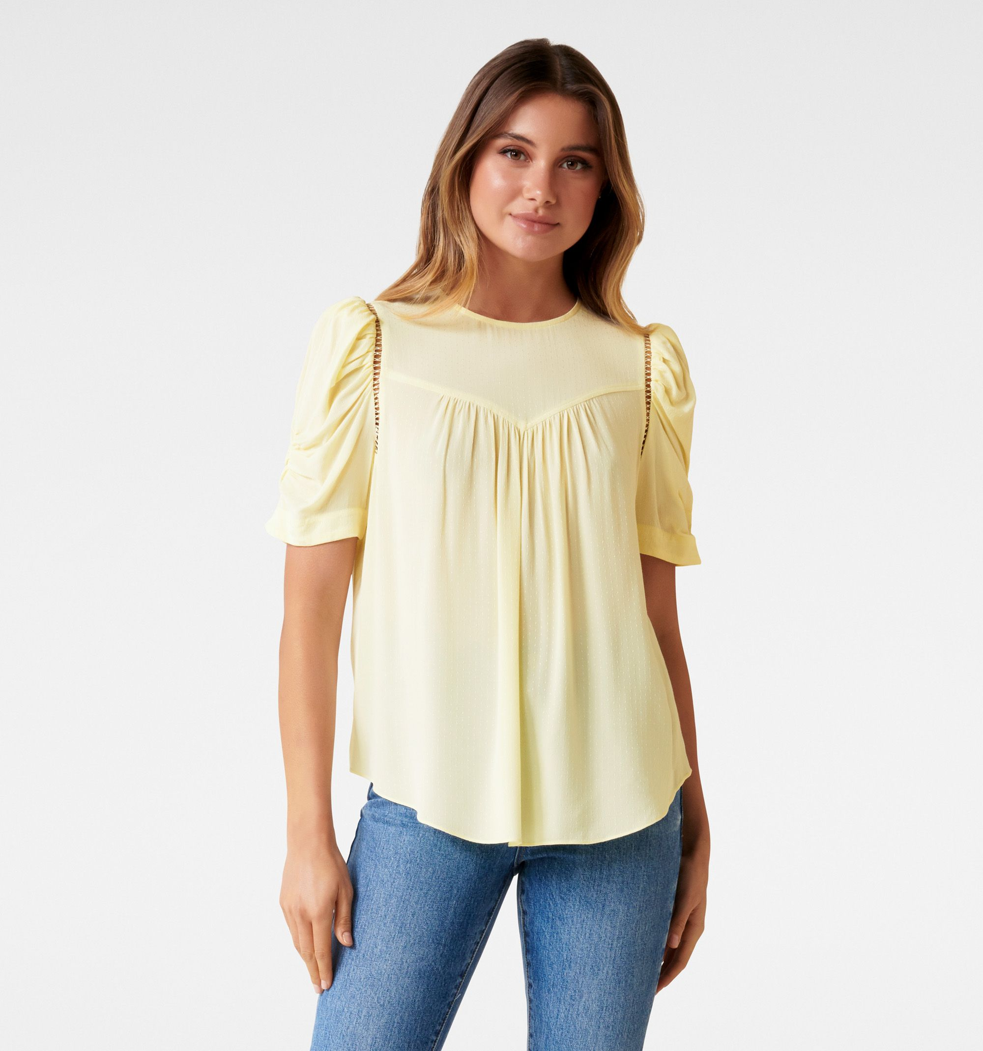 Petunia Rouched Sleeve Blouse