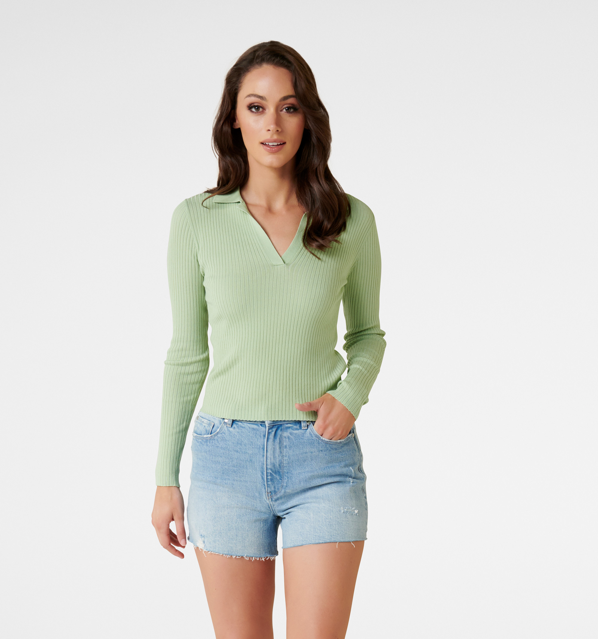 Solange Rib Polo Knit Jumper